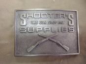 SHOOTERS, THE GUN SHOP INC. BELT BUCKLE