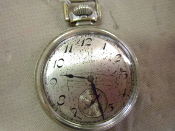 POCKET WATCH, ELGIN 1920'S, 15 JEWEL, 16 SIZE, WORKS