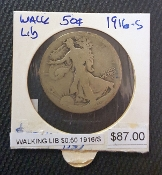 1916-S WALKING LIBERTY 50 CENTS