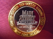 Main Street Station Limited Edition $10 Gaming Token